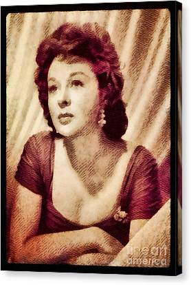Susan Hayward, Vintage Actress By John Springfield Canvas Print