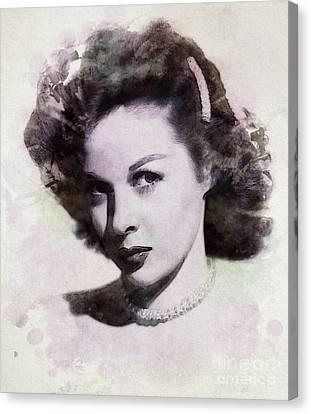 Hayward Canvas Print - Susan Hayward, Vintage Actress by John Springfield