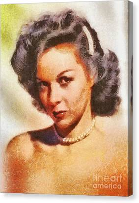 Susan Hayward, Vintage Hollywood Actress Canvas Print by Mary Bassett