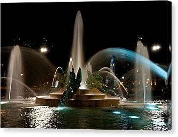 Swann Memorial Fountain Canvas Print by Louis Dallara