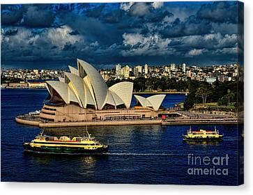 Sydney Opera House Australia Canvas Print by Diana Mary Sharpton