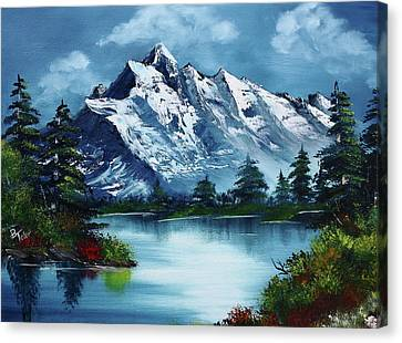 Mountains Canvas Print - Take A Breath by Barbara Teller