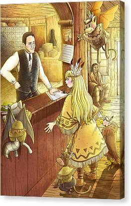 Tammy And The Postmaster Canvas Print by Reynold Jay