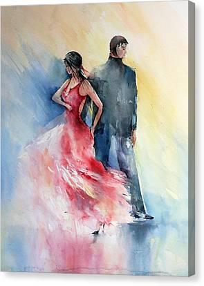 Tango Canvas Print by Natalia Eremeyeva Duarte