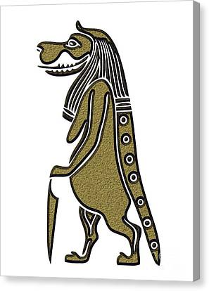 Taweret - Mythical Creature Of Ancient Egypt Canvas Print by Michal Boubin