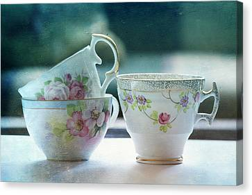 Tea For Three Canvas Print by Bonnie Bruno