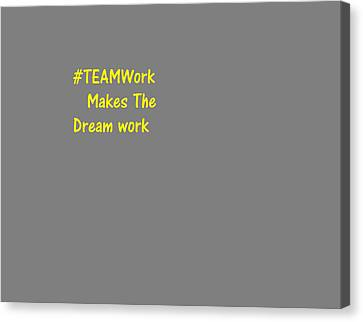 Canvas Print featuring the digital art #teamwork by Aaron Martens