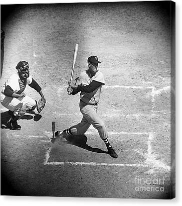 Ted Williams (1918-2002) Canvas Print by Granger