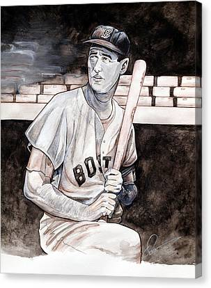 Ted Williams Canvas Print by Dave Olsen