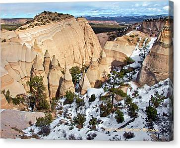 Canvas Print featuring the photograph Tent Rocks National Monument by Britt Runyon