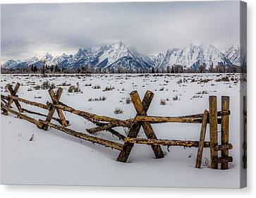 Teton Chill Canvas Print by Gary Migues