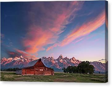 Maine Mountains Canvas Print - Teton Sunrise by Jon Glaser
