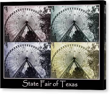 Texas Star Poster Canvas Print by Joan Carroll