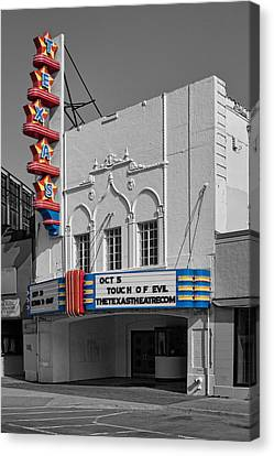 Cliff Lee Canvas Print - Texas Theater by David and Carol Kelly