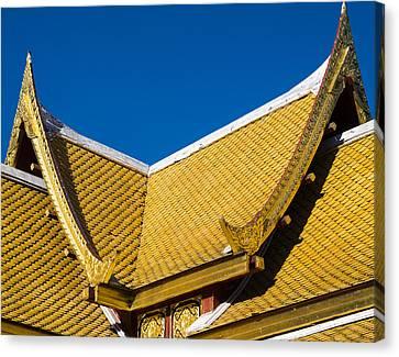 Thai Pavillon - Ohlbrich Gardens - Madison - Wisconsin Canvas Print by Steven Ralser