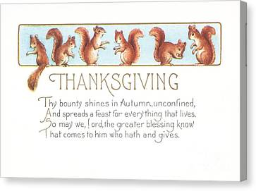 Thanksgiving Card Canvas Print by American School
