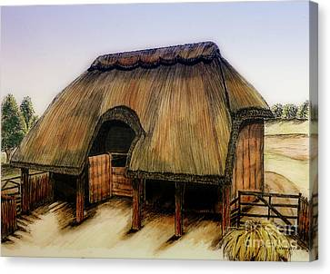 Thatched Barn Of Old Canvas Print