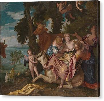 The Abduction Of Europa Canvas Print by Paolo Veronese