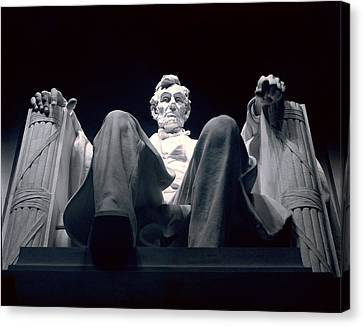 Prime Canvas Print - The Abraham Lincoln Statue by Rex A. Stucky
