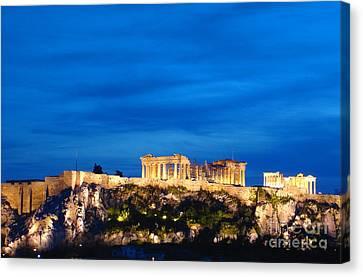 The Acropolis Of Athens Canvas Print