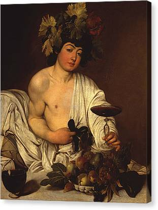 The Adolescent Bacchus Canvas Print
