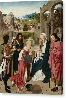 The Adoration Of The Magi Canvas Print by Geertgen tot Sint Jans