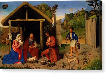 The Adoration Of The Shepherds Canvas Print by Catena