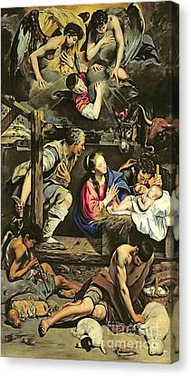 Three Kings Canvas Print - The Adoration Of The Shepherds by Fray Juan Batista Maino or Mayno