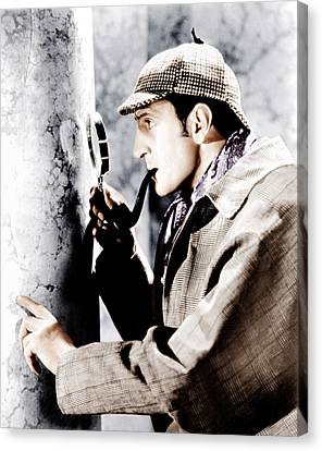 The Adventures Of Sherlock Holmes Canvas Print by Everett