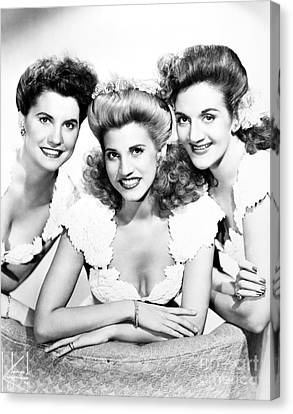 The Andrews Sisters Canvas Print by Granger