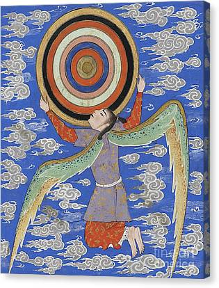 The Angel Ruh Holding The Celestial Spheres Canvas Print