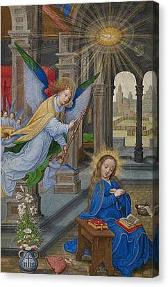 The Annunciation Canvas Print by Simon Bening
