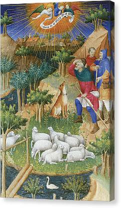 The Annunciation To The Shepherds Canvas Print by Boucicaut Master