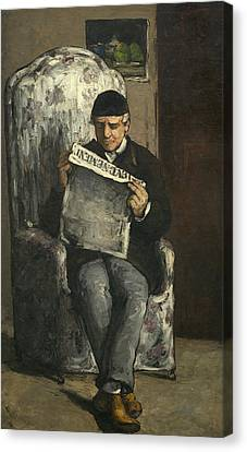 The Artist's Father Canvas Print by Paul Cezanne