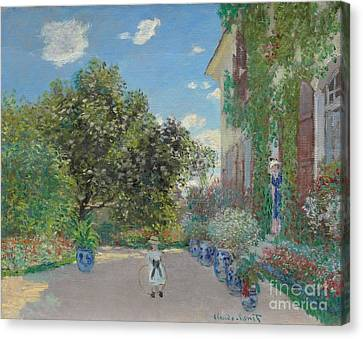The Artist's House At Argenteuil Canvas Print