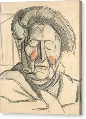 Boccioni Canvas Print - The Artist's Mother by Umberto Boccioni