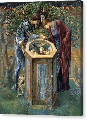 The Baleful Head Canvas Print by Edward Burne-Jones