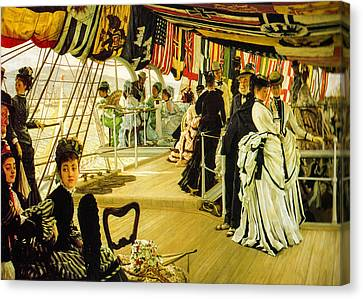 The Ball On Shipboard  Canvas Print by James Tissot
