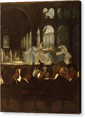 Canvas Print featuring the painting The Ballet From Robert Le Diable by Edgar Degas