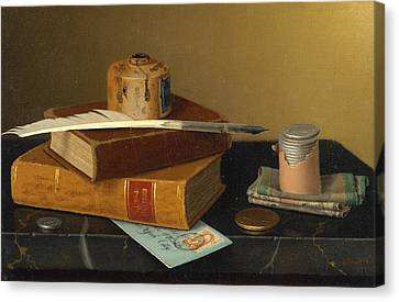 The Banker's Table Canvas Print by William Michael Harnett