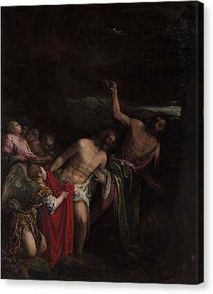 The Baptism Of Christ Canvas Print by MotionAge Designs