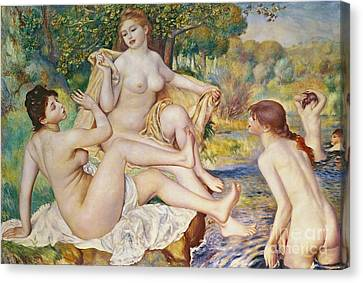 Swim Canvas Print - The Bathers by Pierre Auguste Renoir