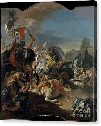 The Battle Of Vercellae  Canvas Print