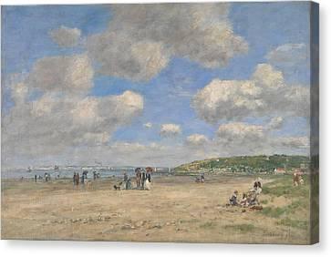 The Beach At Tourgeville Les Sablons Canvas Print