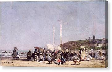 The Beach At Trouville Canvas Print