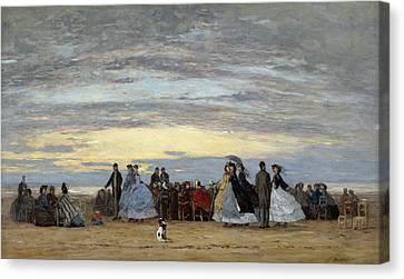 The Beach At Villerville Canvas Print