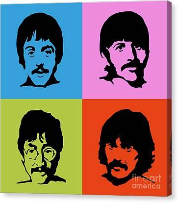 The Beatles Colors Canvas Print
