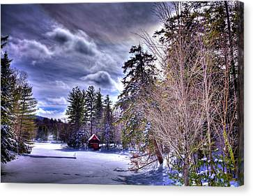 The Beaver Brook Boathouse Canvas Print by David Patterson