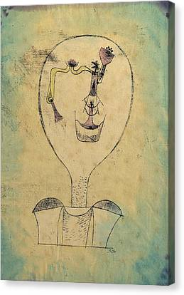 The Beginnings Of A Smile Canvas Print by Paul Klee