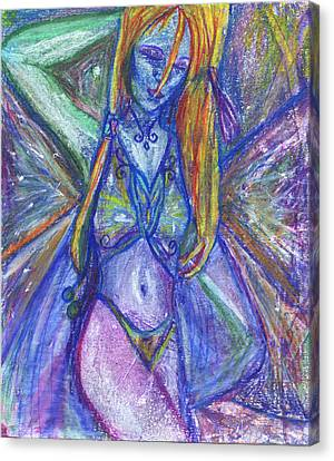 Canvas Print featuring the mixed media The Belly Dancer by Sarah Crumpler